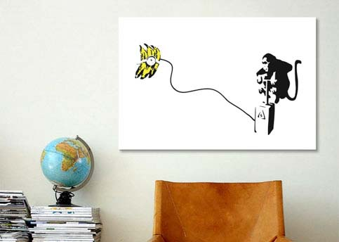 Monkey Detonator Banana Bomb by Banksy  Canvas Print