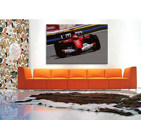 Michael Schumacher Formula One 1 Ferrari Canvas Print