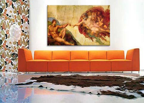Creation Of Adam By Michelangelo Canvas Print