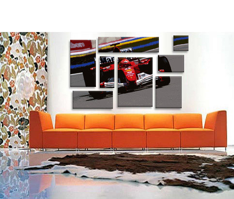 Michael Schumacher Formula One 1 Ferrari Pop Art Print