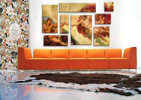 Creation Of Adam By Michelangelo Art Print